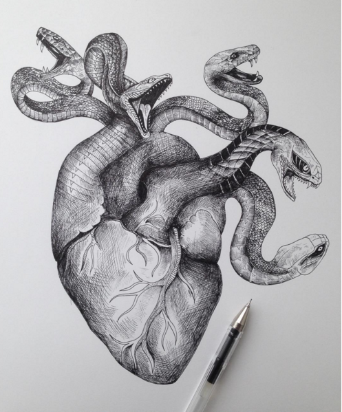 Awesome Sketches Pen Drawings by Alfred Basha | 99inspiration