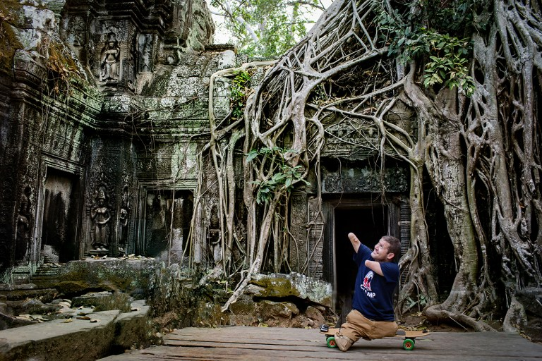 Exploring Ta Prohm Cambodia Photographers Capturing Inspiring Journey of a Man Without Arms and Legs