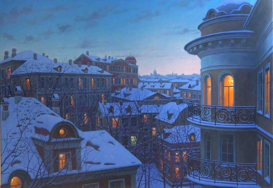Gorgeous Night Cityscapes Paintings by Alexey Butyrsky 13 18 Gorgeous Night Cityscapes Paintings by Alexey Butyrsky