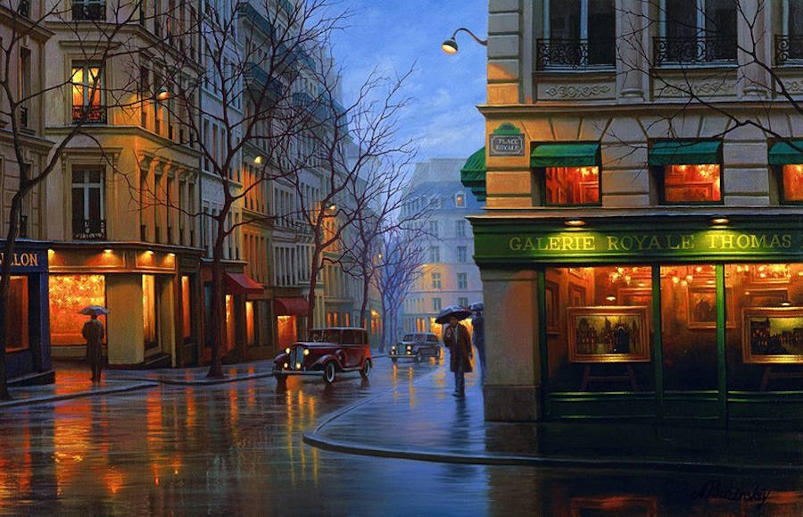 Gorgeous Night Cityscapes Paintings by Alexey Butyrsky 99 18 Gorgeous Night Cityscapes Paintings by Alexey Butyrsky