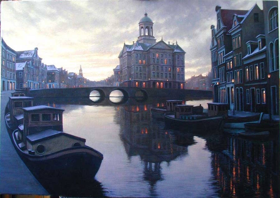 Incredible Cityscapes Paintings Ideas 99 18 Gorgeous Night Cityscapes Paintings by Alexey Butyrsky