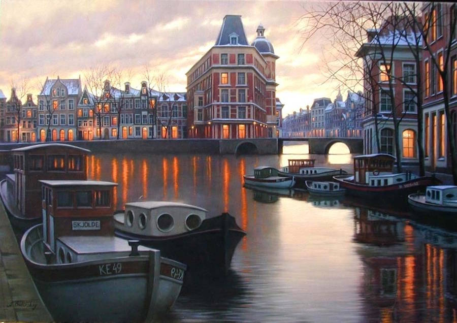 Incredible Cityscapes Paintings Ideas by Alexey Butyrsky 99 18 Gorgeous Night Cityscapes Paintings by Alexey Butyrsky