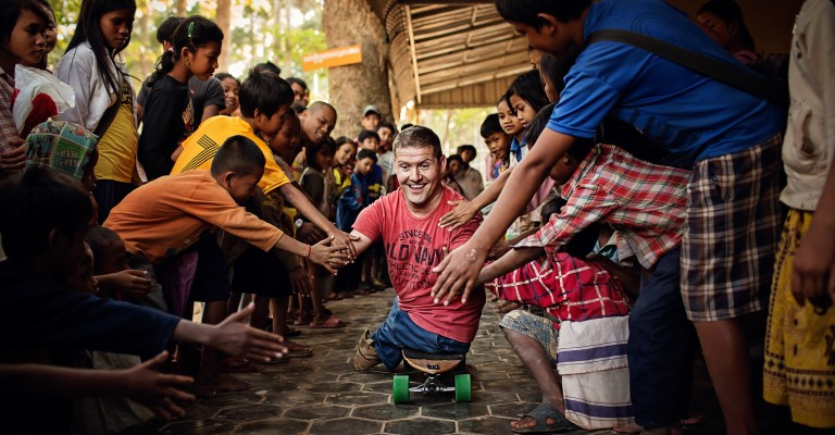 Stepping Stones Cambodia Photographers Capturing Inspiring Journey of a Man Without Arms and Legs
