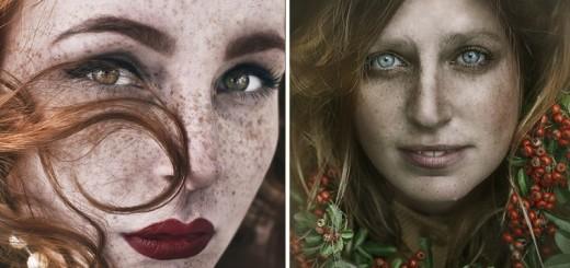 Beauty Portrait of Freckles by Martina Špoljarić Pracaić