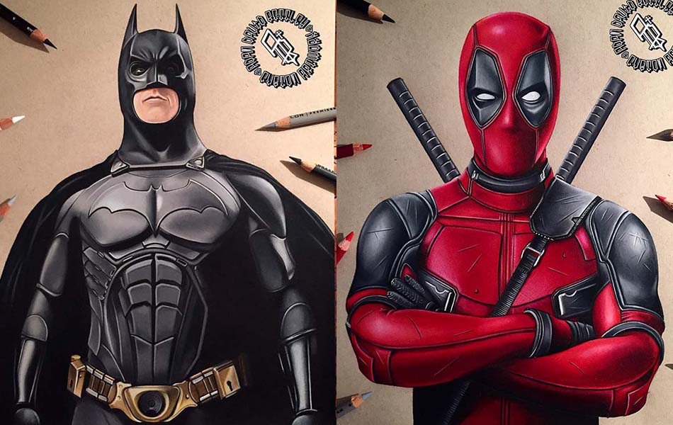 Stunning Superhero Drawings and Illustrations by Adam Bettley