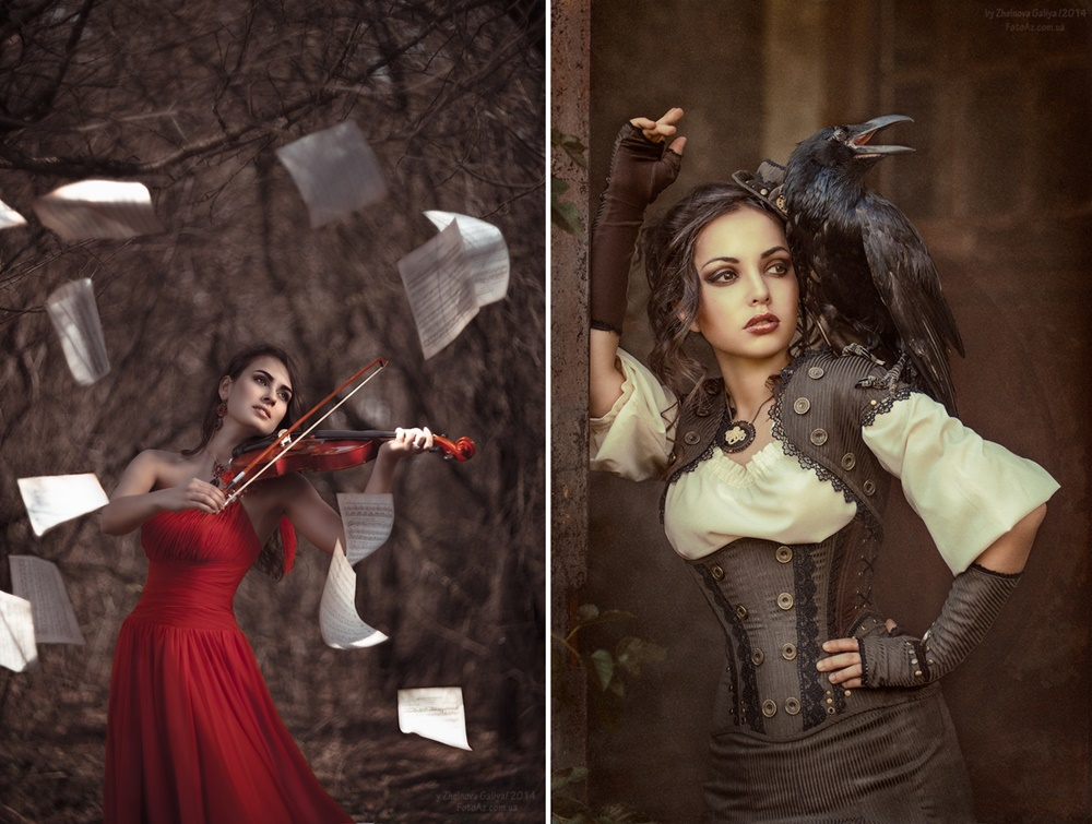 Glamorous Female Portraits Photography by Galiya Zhelnova