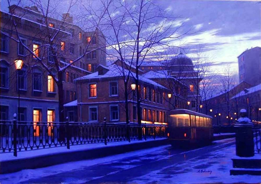 Wonderful Night Cityscapes Paintings by Alexey Butyrsky 99 18 Gorgeous Night Cityscapes Paintings by Alexey Butyrsky