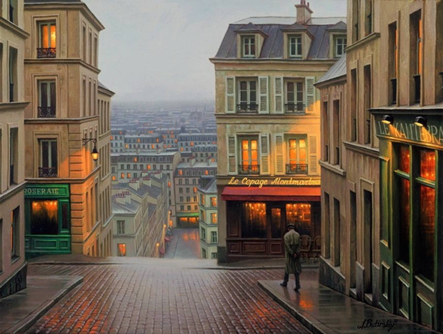 Wonderful Paintings ideas 99 18 Gorgeous Night Cityscapes Paintings by Alexey Butyrsky