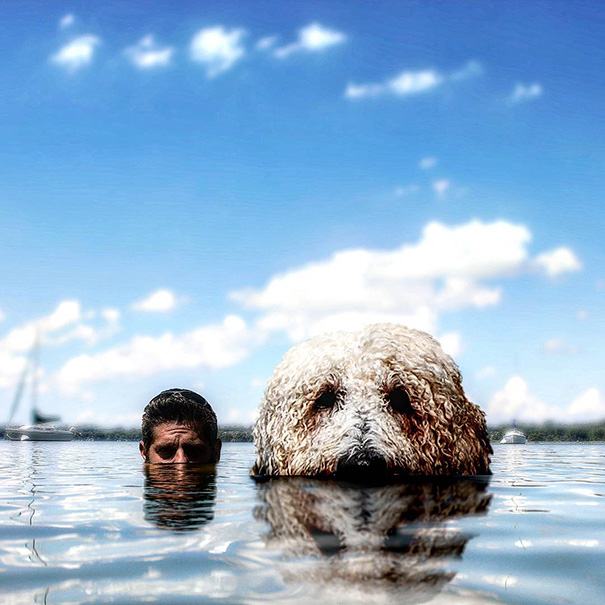 Wonderful Photoshop manipulations With Giant Dog by Christopher Cline 03 Wonderful Imaginative Adventures With Giant Dog by Christopher Cline