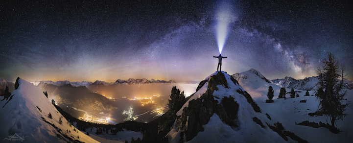 Wonderful Snowy Landscapes at Night
