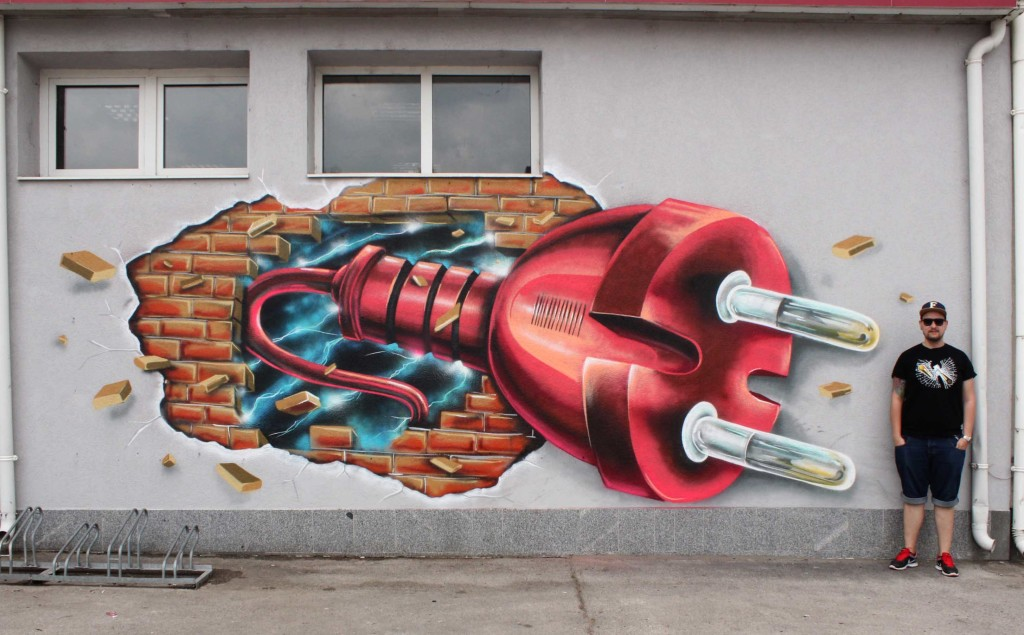 3D Street Art and Graffiti Designs by Fork4 99 1024x635 Wonderful Street Art and Graffiti Designs by Fork4
