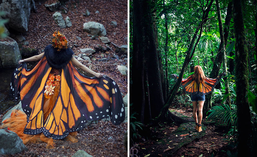 Beautiful Hand-Drawn Butterfly Scarves Will Give You Wings