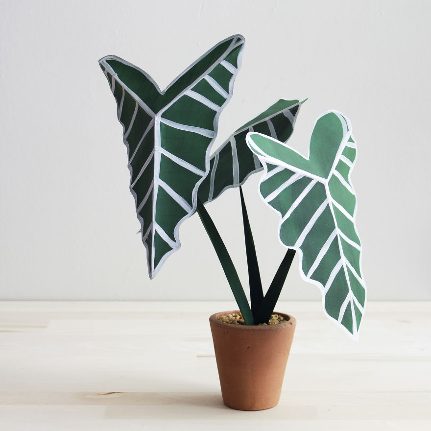 Creative Idea Plants From Paper 99 Creative Idea, Create Green Room With Plants From Paper