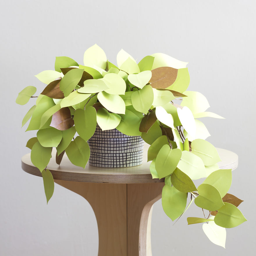 Make Beautiful Plants from paper 99 Creative Idea, Create Green Room With Plants From Paper