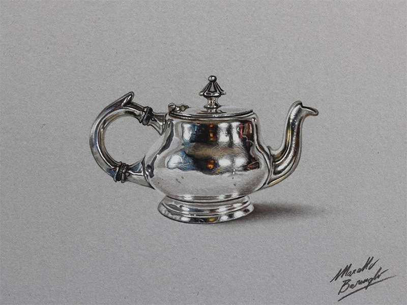 Photorealistic Color Pencil Drawings by Marcello Barenghi 99 Photorealistic Color Pencil Drawings of Everyday Objects by Marcello Barengi