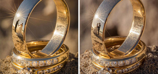Unique Concept of Wedding Photoshoot With Reflected On Rings