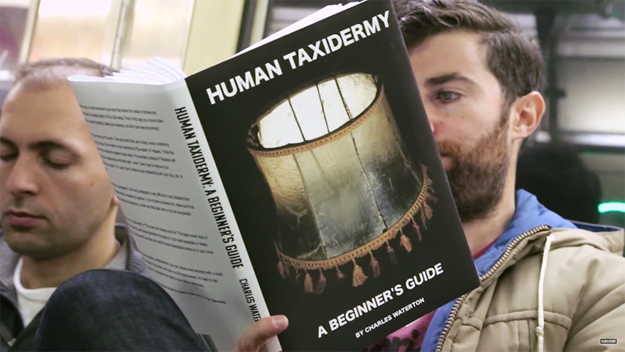 funny fake book covers nyc subway prank scott rogowsky 07 Guy Takes Fake Book Covers Onto Subway To See How People React