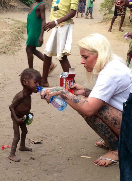 nigerian witch boy starving thirsty recovery anja ringgren loven 01 2 Year Old 'Witch Child' Who Was Left To Die Makes Stunning Recovery