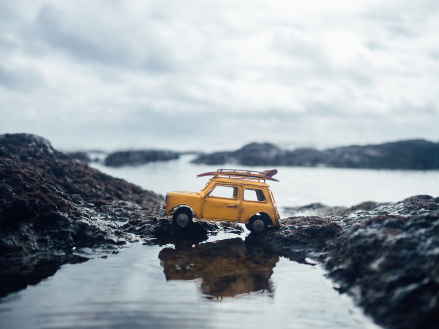 Beauty Miniature Car Photography by Kim Leuenberger 99 Creative and Beautiful Photography ideas With Little Cars