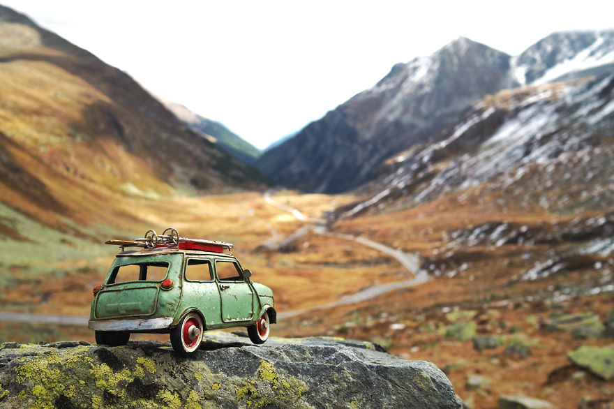 Beauty Miniature Car Photography by Kim Leuenberger Creative and Beautiful Photography ideas With Little Cars