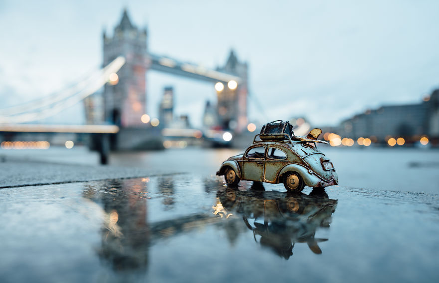 Beauty Miniature Photography by Kim Leuenberger Creative and Beautiful Photography ideas With Little Cars
