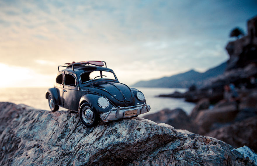Creative And Beautiful Photography Ideas With Little Cars
