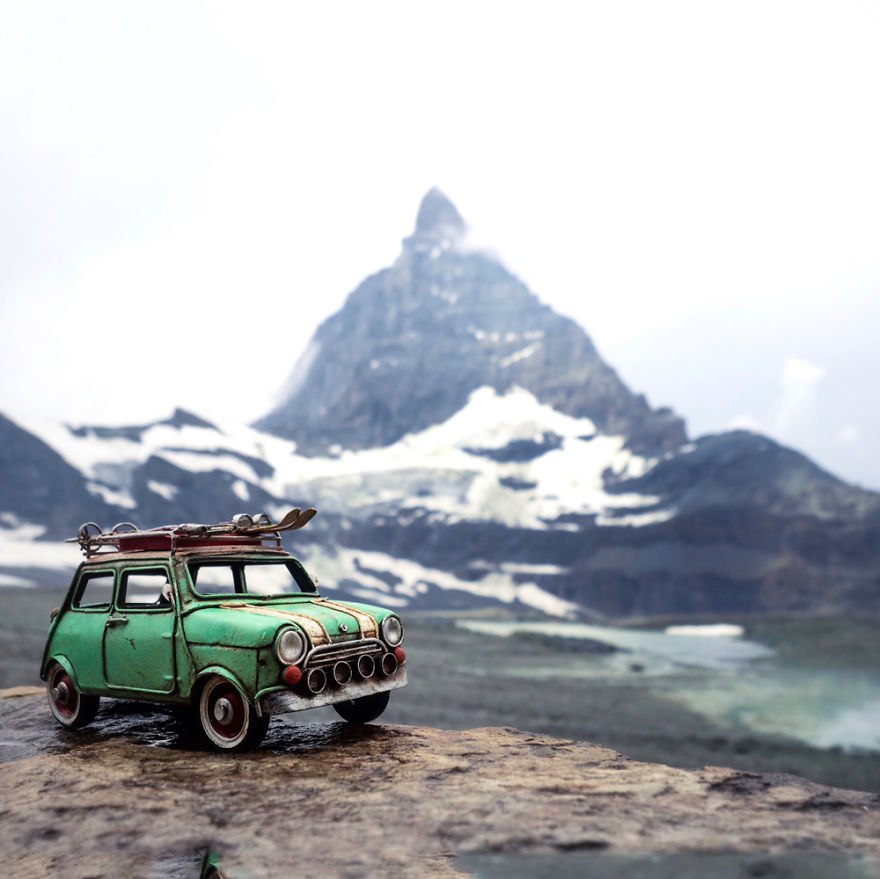 Beauty Miniature Toys Photography by Kim Leuenberger Creative and Beautiful Photography ideas With Little Cars
