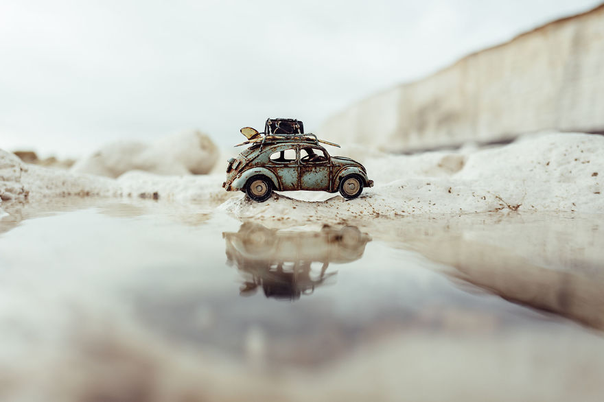 Creative and Beautiful Photography ideas With Little Cars 11 Creative and Beautiful Photography ideas With Little Cars