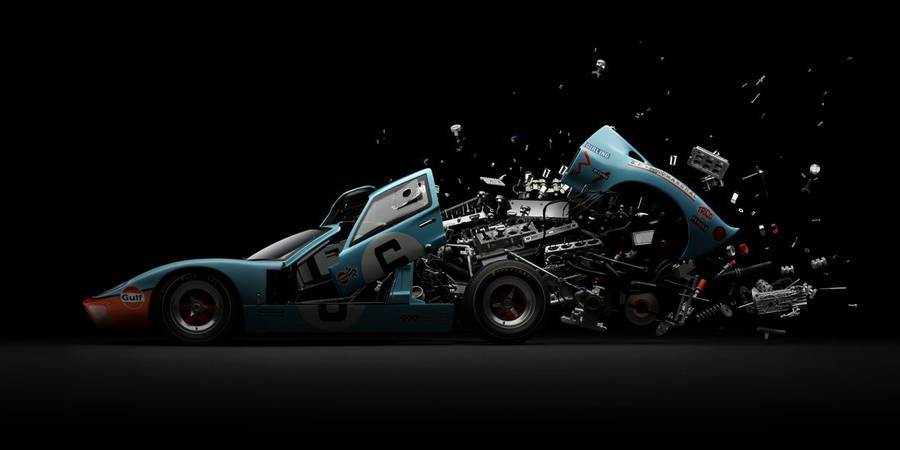 Disintegrating Stunning Cars Photography Disintegrating Mind blowing Cars Photography