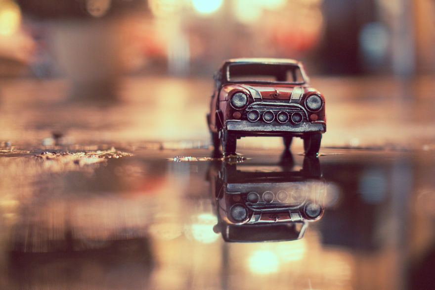 Miniature Photography Ideas by Kim Leuenberger Creative and Beautiful Photography ideas With Little Cars