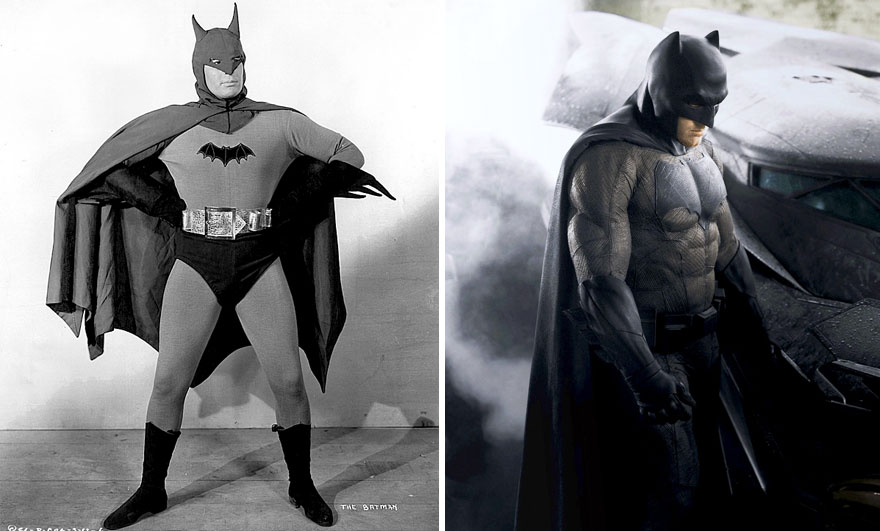 Batman Then And Now Look Like 15 Superheroes Then And Now Look Like