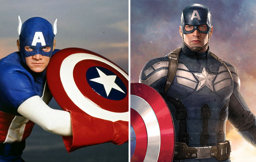 Captain America Then And Now Look Like 15 Superheroes Then And Now Look Like