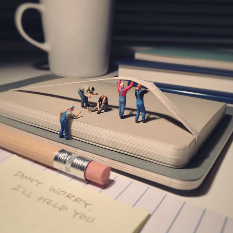 Derrick Lin Turn His Office Life With Miniature Figures Derrick Lin Turn His Office Life With Miniature Figures