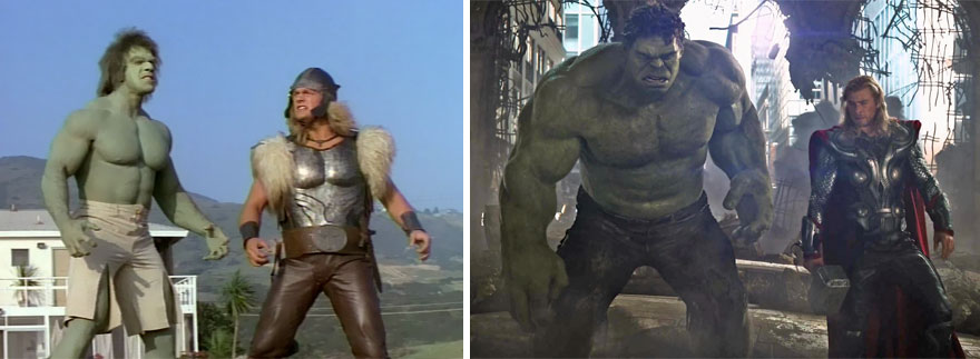 Hulk and Thor Then And Now Look Like 15 Superheroes Then And Now Look Like