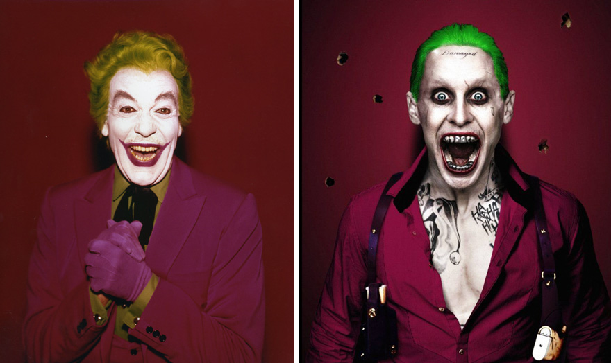 Joker Then And Now Look Like 15 Superheroes Then And Now Look Like