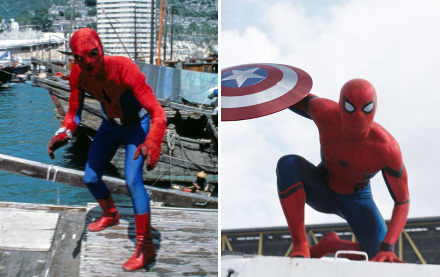 Spiderman Then And Now Look Like 15 Superheroes Then And Now Look Like