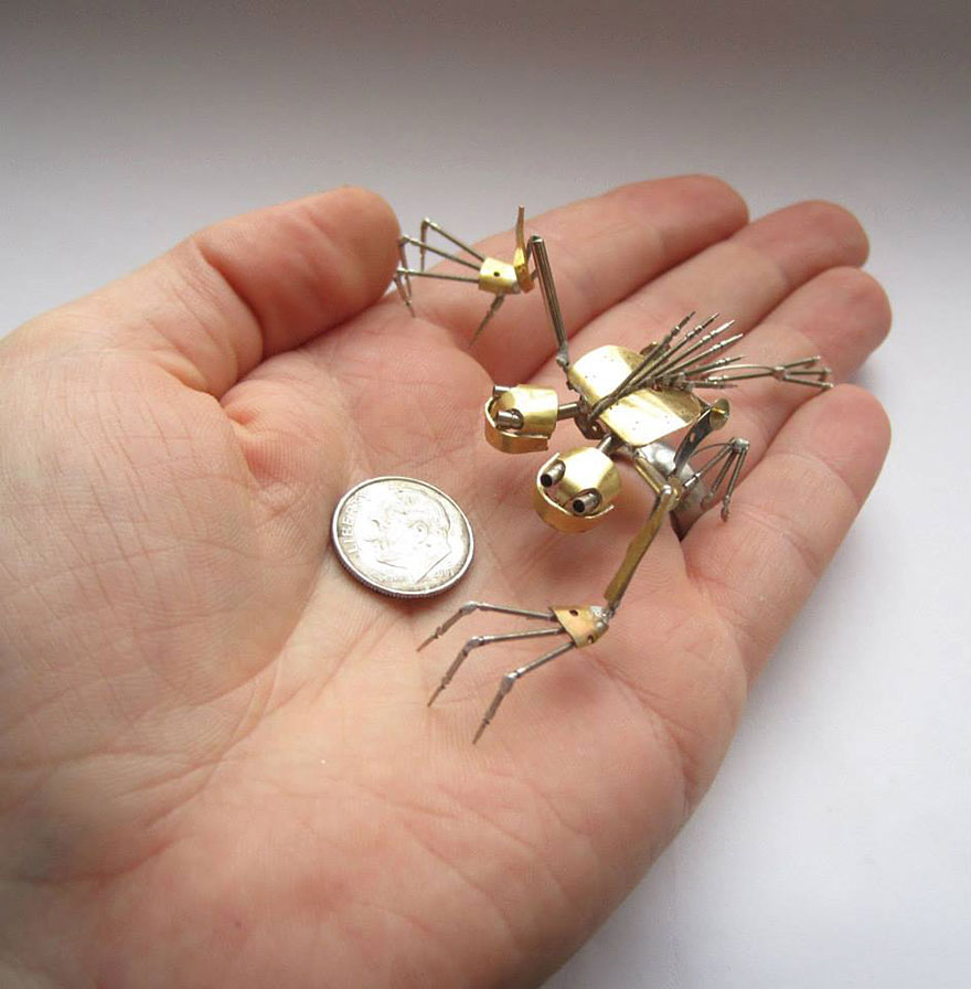 Spine Chilling Insects And Spiders From Recycled Watch Parts 2 Spine Chilling Insects And Spiders From Recycled Watch Parts