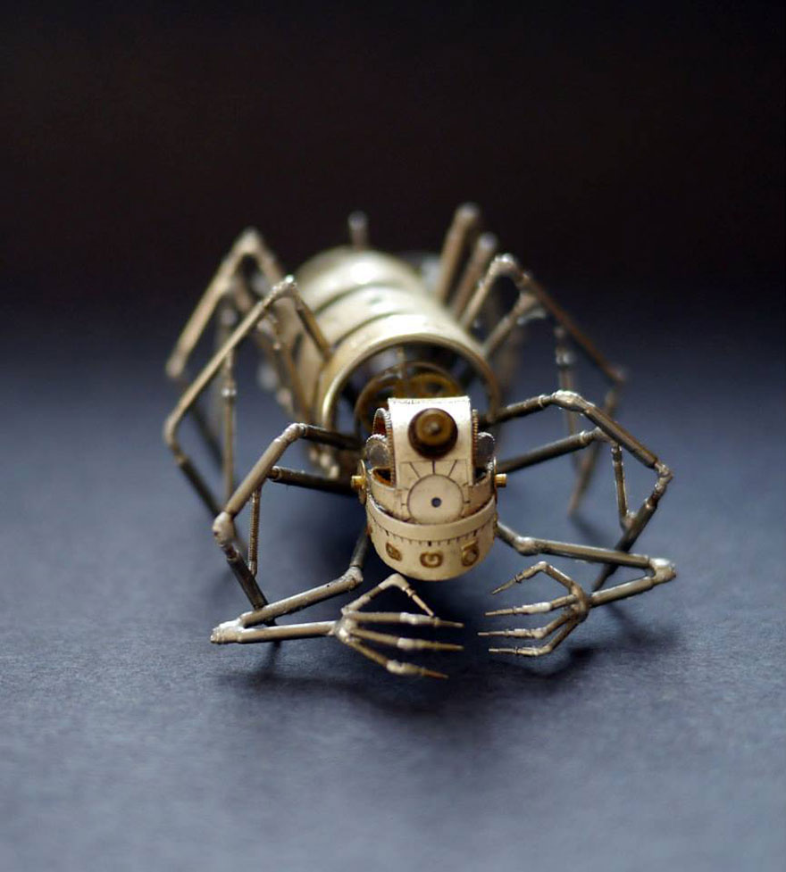 Spine Chilling Insects And Spiders From Recycled Watch Parts 77 Spine Chilling Insects And Spiders From Recycled Watch Parts