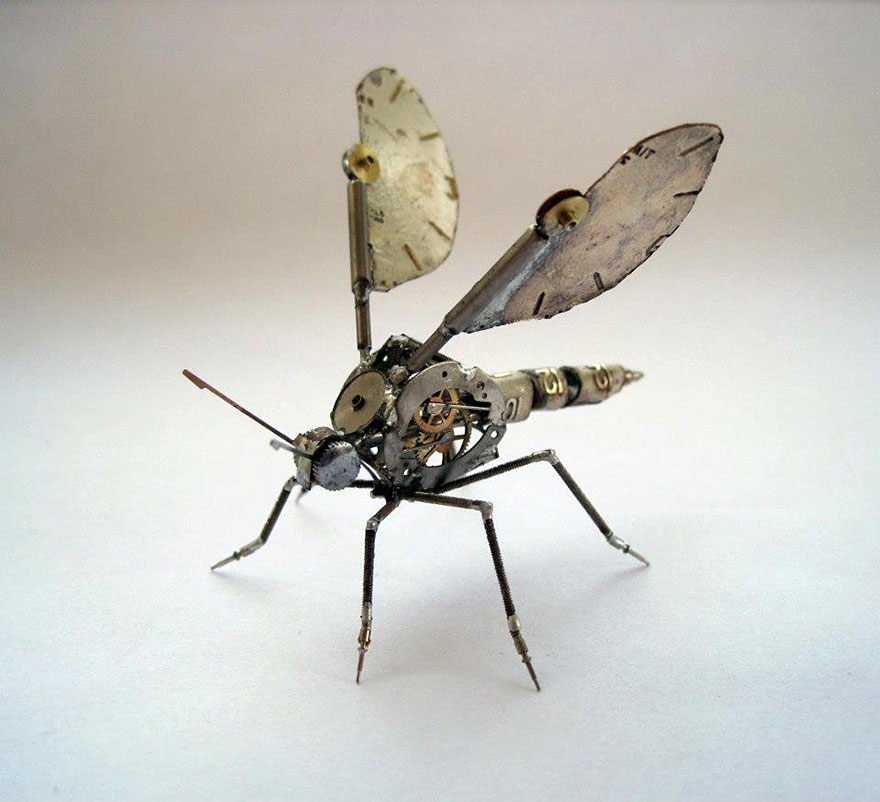 Spine Chilling Insects And Spiders From Recycled Watch Parts Spine Chilling Insects And Spiders From Recycled Watch Parts