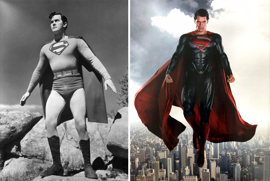 Superman Superheroes Then And Now Look Like 15 Superheroes Then And Now Look Like
