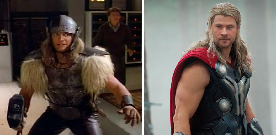Thor Then And Now Look Like 15 Superheroes Then And Now Look Like