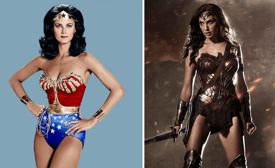 Wonder Women Then And Now Look Like 15 Superheroes Then And Now Look Like