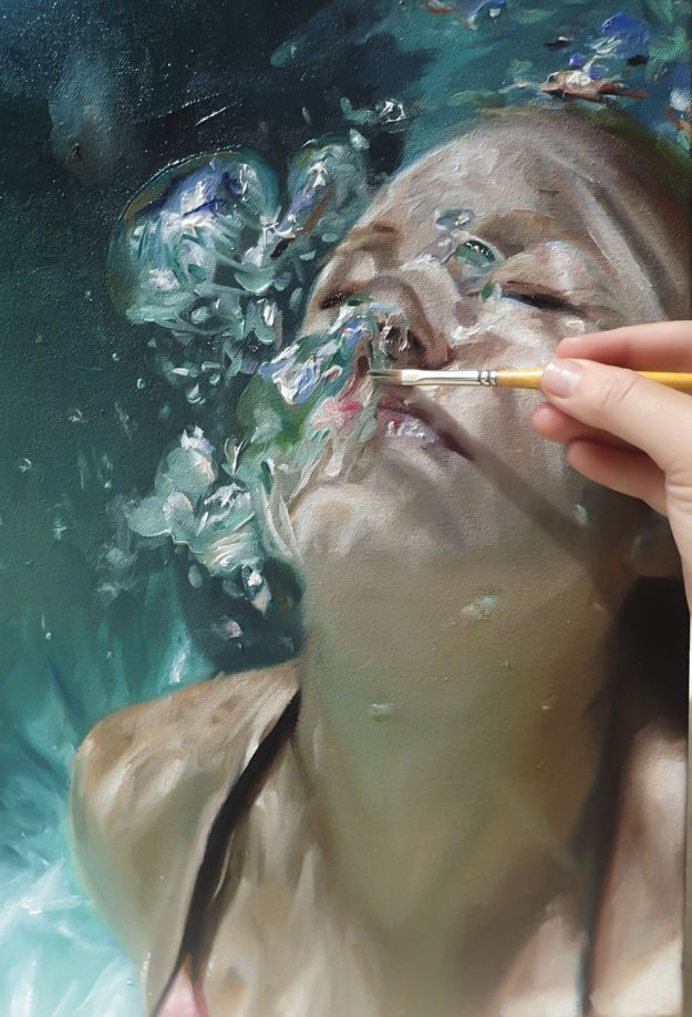 Wonderful Realistic Underwater Paintings Reisha Perlmutter Realistic Underwater Paintings By Reisha Perlmutter