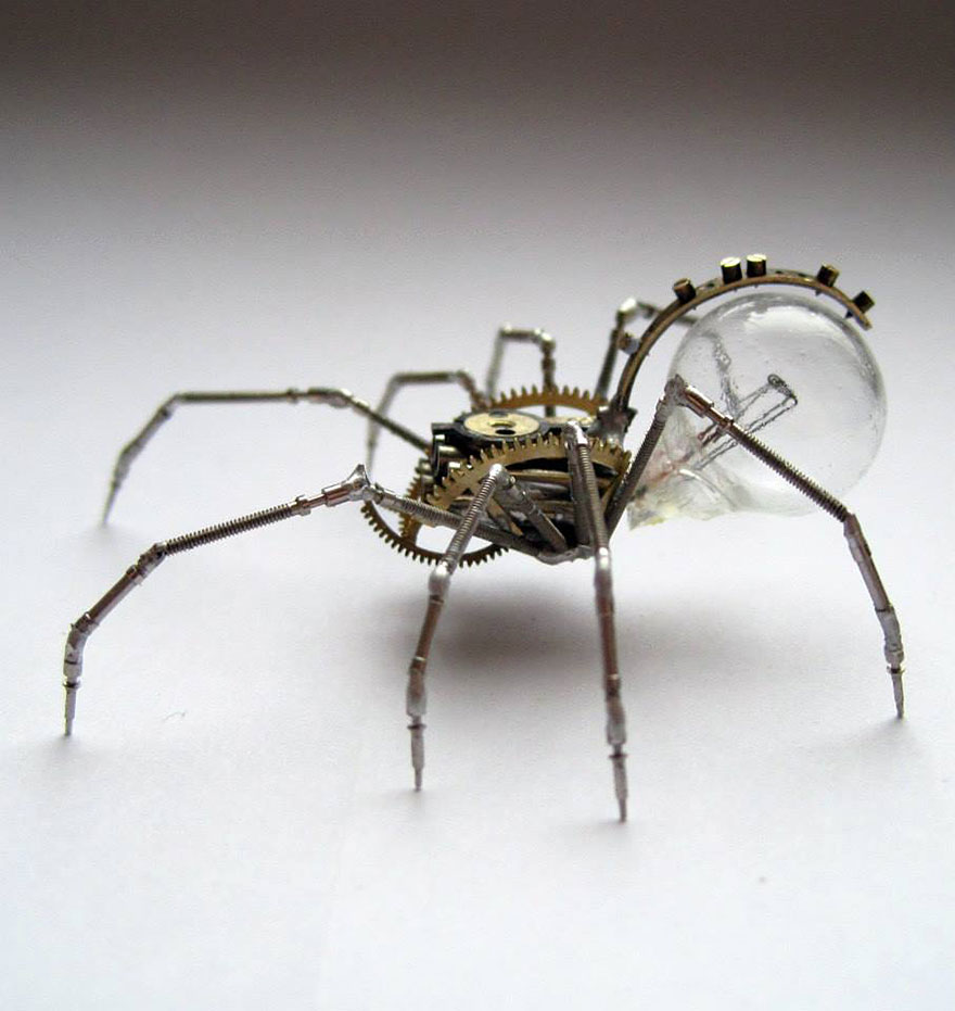 Wonderful Spine Chilling Insects And Spiders From Recycled Watch Parts Spine Chilling Insects And Spiders From Recycled Watch Parts
