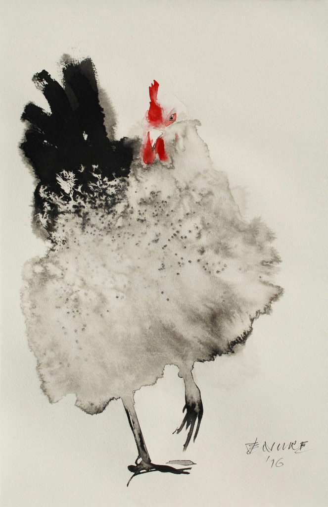 Creative Ink Paintings of Chickens by Endre Penovác 99