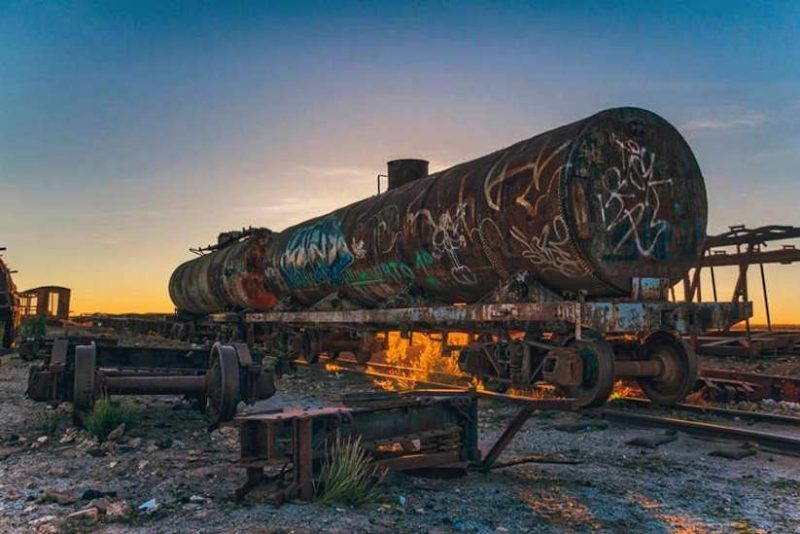 Stunning Cemetery of Abandoned Trains in Bolivia by Chris Staring 3