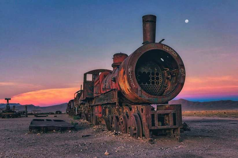 Stunning Cemetery of Abandoned Trains in Bolivia