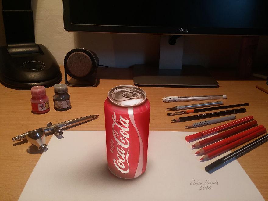 Amazing 3D Drawing by Nikola Čuljić Mind Blowing 3D Drawing by Nikola Čuljić