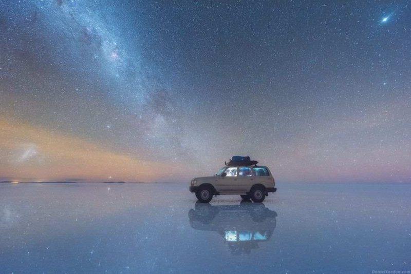 Amazing Milky Way Reflected Photos Beautiful Milky Way Reflected in Bolivia Salt Flats by Daniel Kordan