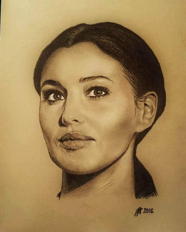 Beautiful Celebrity Paintings by Aleksandra Janekovic Sribar